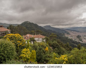 Bogota, Colombia - September 09, 2017: View for Guadalupe from the top of the Monserrate mountain, Bogotá, Colombia, Latin America
