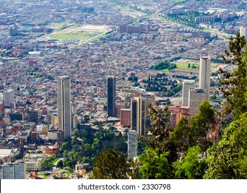 Bogota downtown. Colombia. Skyscrappers. Landscape panorama