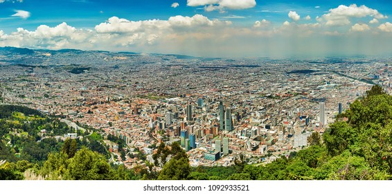 BOGOTA,COLUMBIA/MARCH 15,2018: The view of the center of city