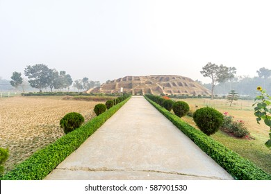 Bogra, Bangladesh - February 18, 2017: Mahasthangarh is one of the earliest urban archaeological site so far discovered in Bangladesh. this photo was taken from Bogra, bangladesh.