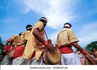 Bohag Bihu or Rongali Bihu festival and celebrates of Assamese New Year (mid-April) and coming of Spring, Assam state, India.