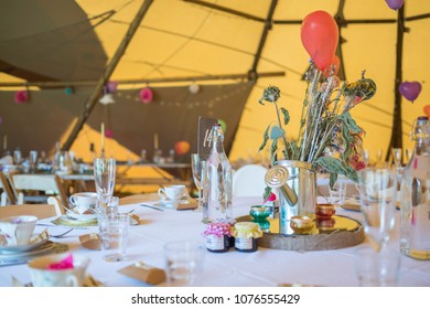 Bohemian wedding table decorations