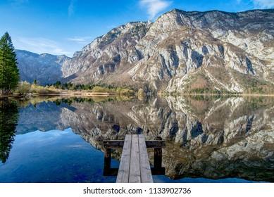 Bohinj lake in Triglav National Park, Slovenia