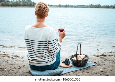 Boho style picnic, food and drink concept