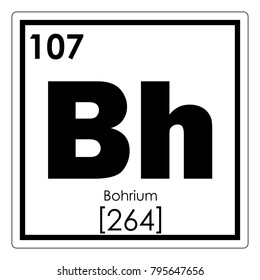 Bohrium chemical element periodic table science symbol