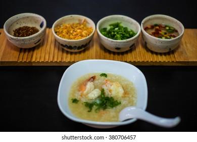 boil rice soup