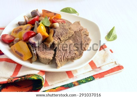 Boiled Beef Baked Vegetables Stock Photo (Edit Now) 291037016 ... 7b19b441c457