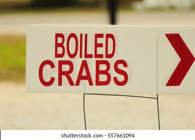 BOILED CRABS SIGN