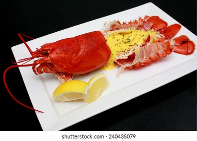 Boiled Lobster with Hollandaise Sauce