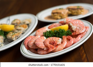Boiled Shrimp and Seafood dinners