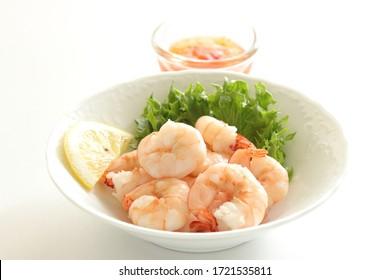 Boiled spring and lemon salad for comfort food