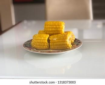 Boiled sweet corn for healthy breakfast, known as JAGUNG REBUS