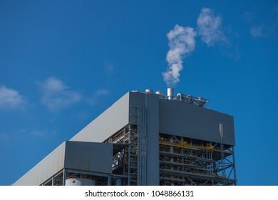 Boiler steam vent silencer.