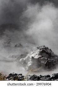 Boiling mud taken at thermal pools near Rotorua, New Zealand
