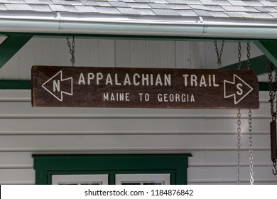 Boiling Springs, PA, USA - September 16, 2018: A sign at Mid-Atlantic Regional Office of the Appalachian Trail Conservancy located in Boiling Springs near the halfway point of the 2,200-mile Trail.