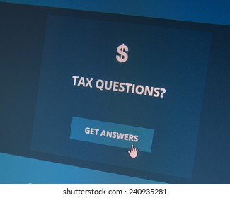 BOISE, IDAHO/USA - DECEMBER 24, 2014: Tax questions? You can get answers