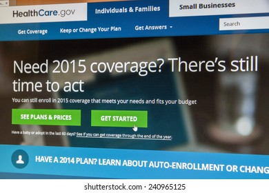 BOISE, IDAHO/USA - DECEMBER 24, 2014: Healthcare.gov website showing there is still time to get coverage