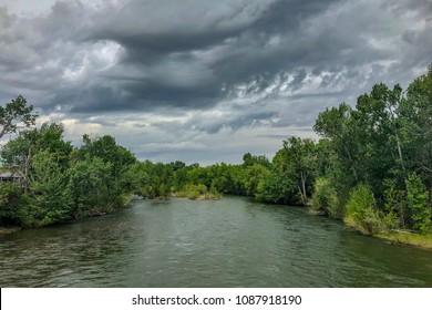 Boise River, Idaho downtown