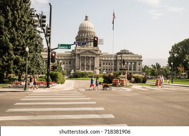 Boise/Idaho: 10th September 2017- Idaho State Capitol building is one of the most iconic building in Idaho.  Yearly it host thousands of visitor.