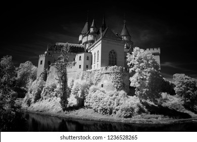 Bojnice castle with infrared filter