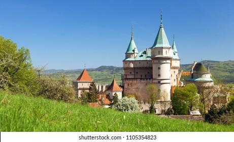 Bojnice castle near Prievidza town , Slovakia, Europe