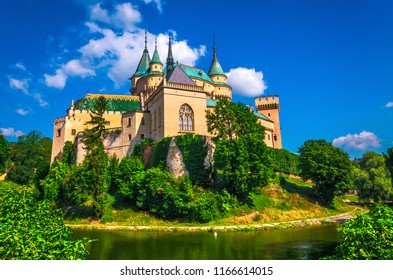 Bojnice castle. One of the most visited castles in Slovakia.