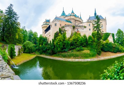 Bojnice medieval castle, UNESCO heritage, Slovakia. It is a Romantic castle with some original Gothic and Renaissance elements built in the 12th century