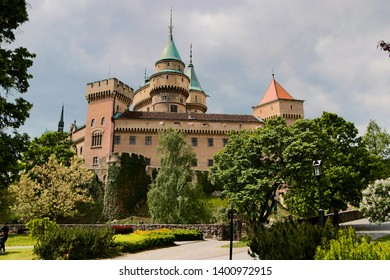 Bojnice medieval castle, UNESCO heritage in Slovakia. Romantic castle with gothic and Renaissance elements built in 12th century.