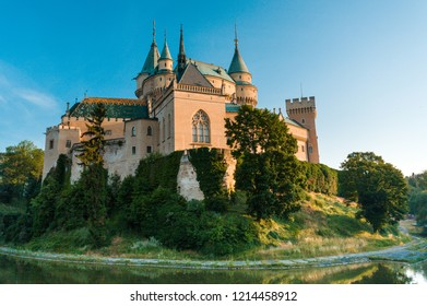 bojnice renesance castle in the early morning light
