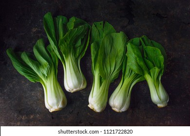 Bok choy with rustic background