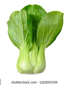 Bok choy vegetable isolated clipping path