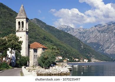 Boka Kotor bay (Boka Kotorska), Montenegro, Europe. UNESCO World Heritage Site