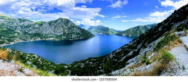 Boka Kotorska zaliv Montenegro sea