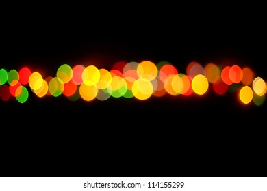 Boke abstract line defocused red yellow green blue black background
