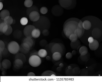 bokeh abstract background with black and white color