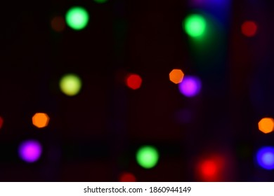 Bokeh abstract background of Christmaslight.