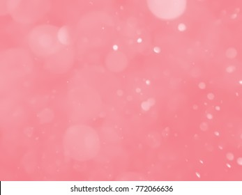 bokeh abstract background with red bubble
