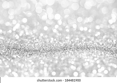 Bokeh abstract background wallpaper silver diamond for wedding card design
