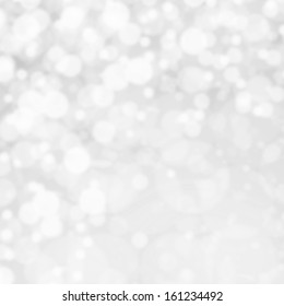Bokeh Abstract Christmas background with glowing magic crystal  holiday lights, Light silver dimond color