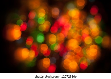 Bokeh. Abstract Christmas light background