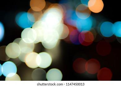 Bokeh abstract christmas light vintage background