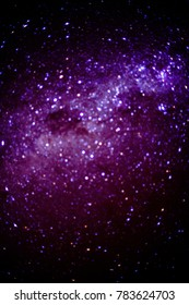 Bokeh abstract picture of the galaxy milky way, taken in Pisco Elqui Valley in Chile.