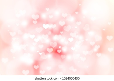 Bokeh abstract pink background with heart.