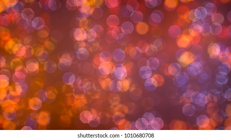 Bokeh abstract texture. Colorful. Defocused background. Blurred bright light. Circular points.