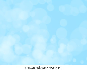 bokeh background with blue sky color