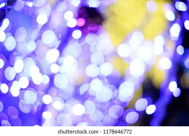 The bokeh background with light of new year and christmas