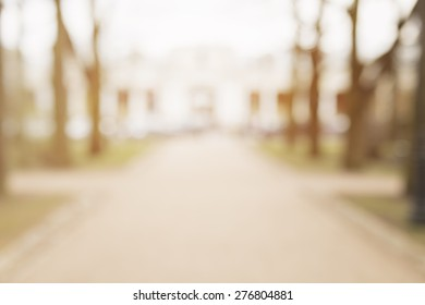 bokeh background in town on alley daytime photo