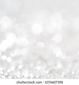 Bokeh blink background white grey light