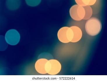 bokeh blue background light horizon sparkle abstract  blur orange at city night lens flare