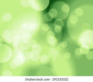 Bokeh with Blurred abstract background soft green tone.